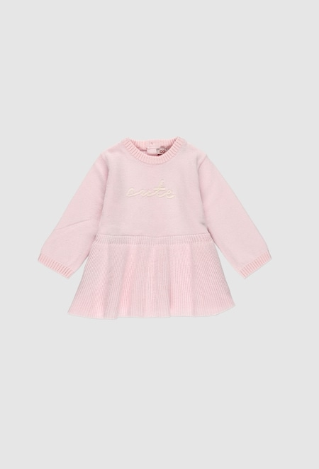 Knitwear dress for baby girl_1