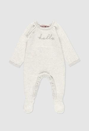 Grenouillère en tricot pour bébé_1