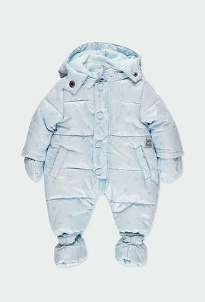Schnee kombi technisches stoff sterne für baby_1