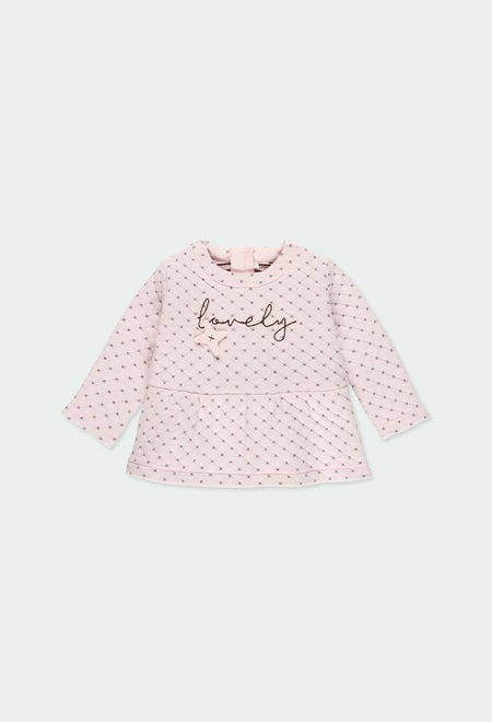 Knit dress fantasy for baby girl_1