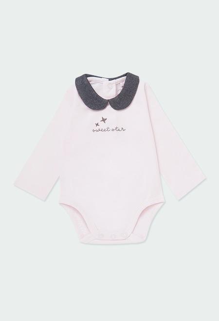 """Body tricot """"etoile"""" pour bébé fille_1"""