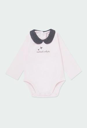 """Body malha """"estrela"""" para o bebé menina_1"""