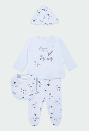 Pack 4 teile mit geschenkkiste für baby_1