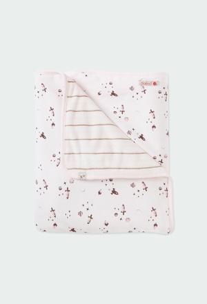 Cobertor combinado foguetes do bébé_1