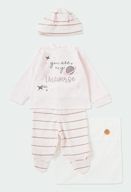 Pack en tricot à rayures pour bébé_1