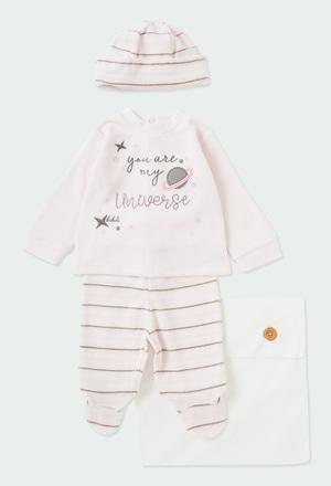 Pack strick gestreift für baby_1