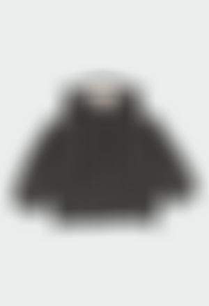 Chaqueta tricotosa con capucha de bebé