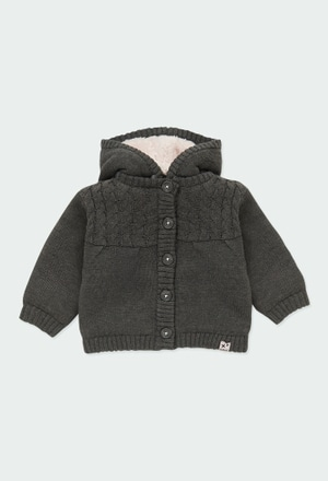 Knitwear jacket hooded for baby_1