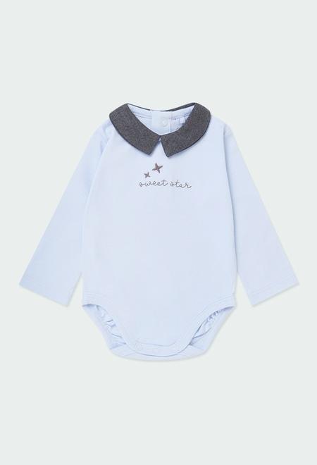 """Pack malha """"estrelas"""" para o bebé menino_1"""