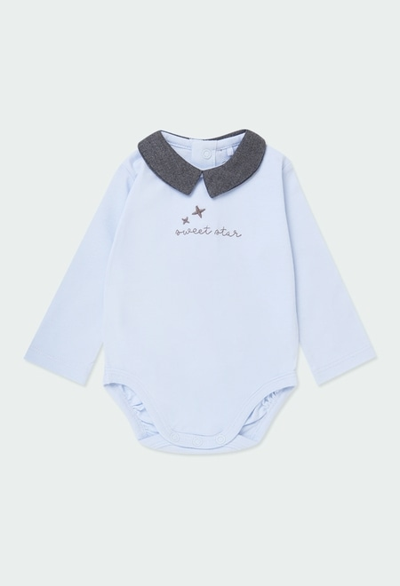 """Pack en tricot """"étoiles"""" pour bébé garçon_1"""