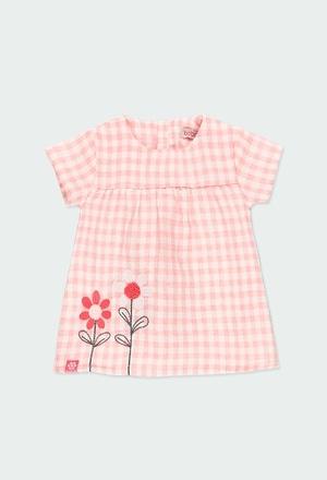 Vestido de tejido cuadros vichy de bebé_1