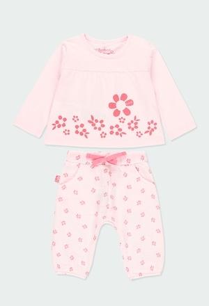 """Pack en tricot """"a fleurs"""" pour bébé fille_1"""