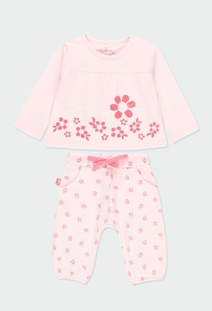 "Pack knit ""floral"" for baby girl_1"