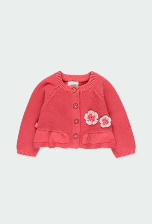 "Casaco tricot ""floral"" para o bebé menina_1"