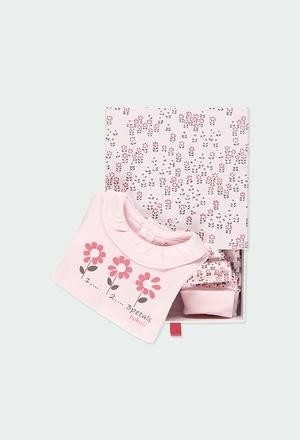 Pack 3 teile mit geschenkkiste für baby mädchen_1