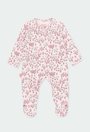 Interlock play suit printed for baby_1