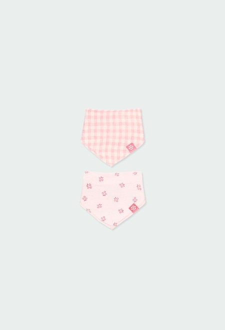 Pack 2 ribbed foulards for baby_1