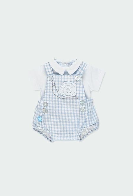 Pack en tricot a carreaux vichy pour bébé garçon_1