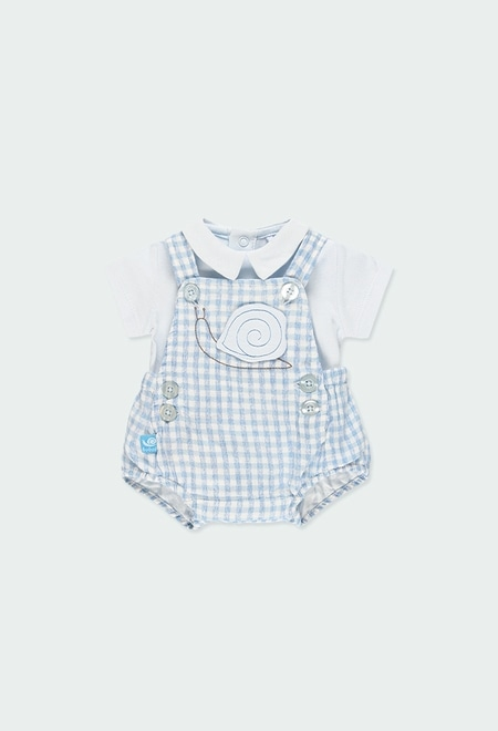 Pack knit vichy for baby boy_1