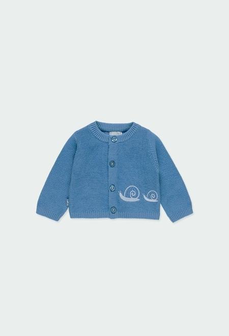 "Casaco tricot ""caracol"" do b?b?_1"