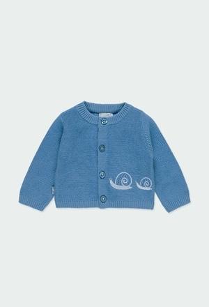 """Casaco tricot """"caracol"""" do bébé_1"""