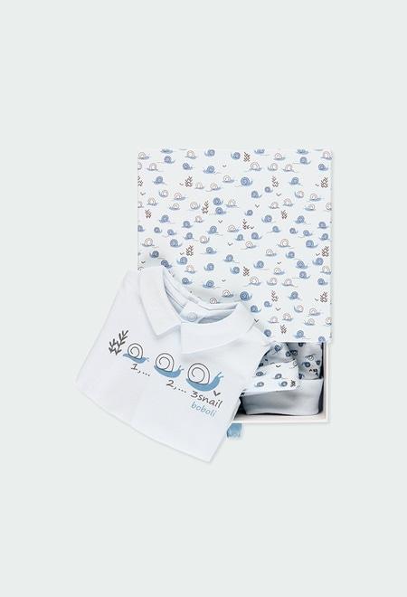 Pack 3 teile mit geschenkkiste für baby junge_1