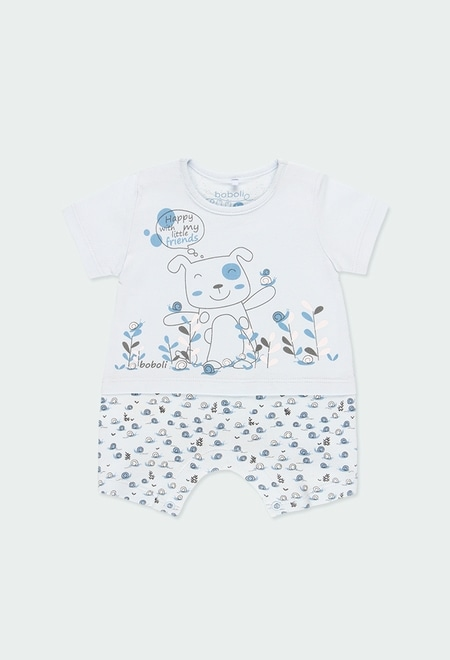 "Knit play suit ""puppy"" for baby boy_1"