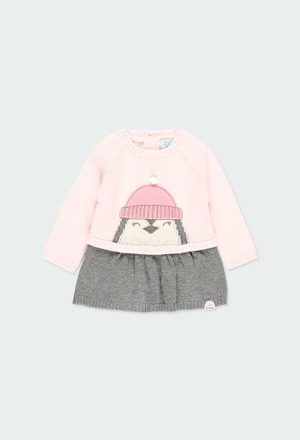 "Knitwear dress ""penguin"" for baby_1"