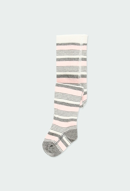 Thick tights striped for baby girl_1