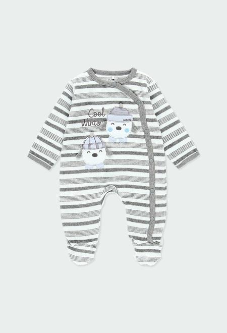 Pelele terciopelo listado de bebé_1
