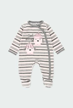 Babygrow veludo às riscas do bébé_1