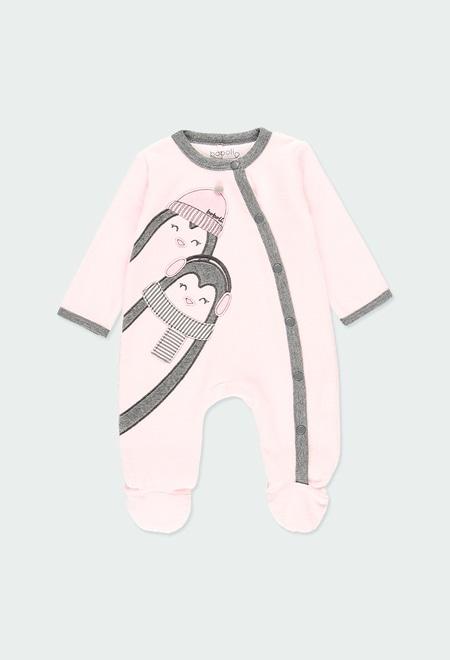 "Pelele terciopelo ""pingüino"" de bebé_1"
