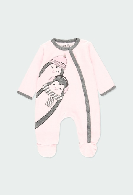 """Velour play suit """"penguin"""" for baby_1"""