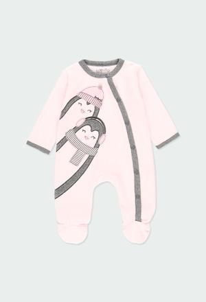 """Strampelanzug velour """"pinguin"""" für baby_1"""