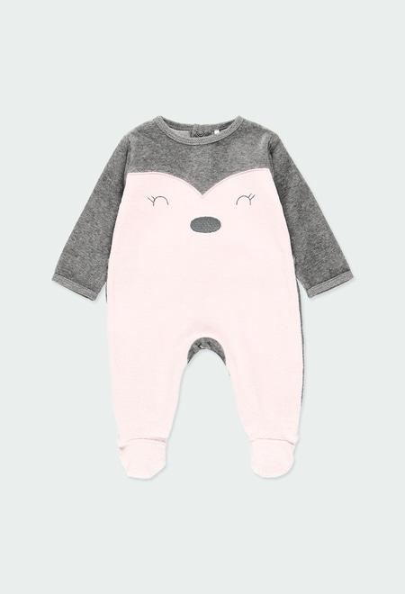 Babygrow veludo bicolor do bébé_1