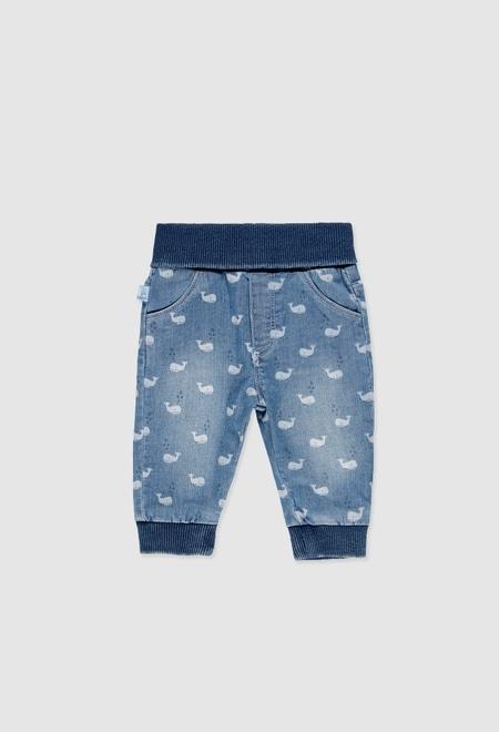 Pantalón denim elástico de bebé_1