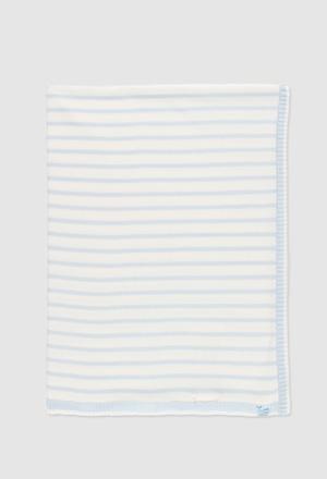 Couverture tricotée pour bébé_1