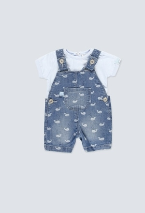 Denim dungarees stretch for baby boy_1