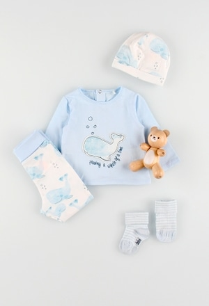 Pack de 4 articles avec coffret cadeau pour bébé garçon_1