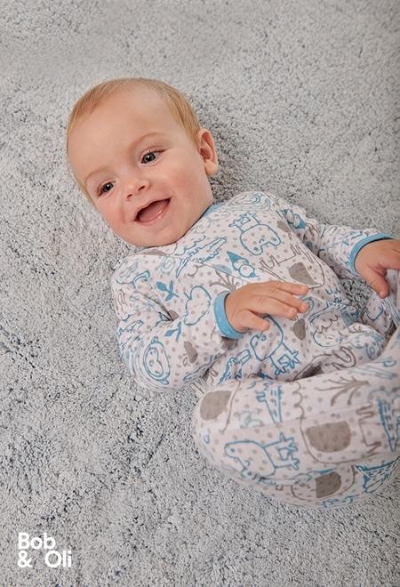 Grenouillère en tricot pour bébé - organique_1