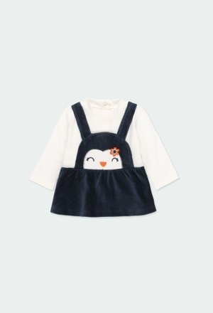 "Vestido punto ""pingüino"" de bebé niña_1"