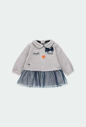 Robe en velours pour bébé fille_1