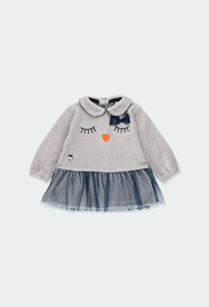 Velour dress for baby girl_1