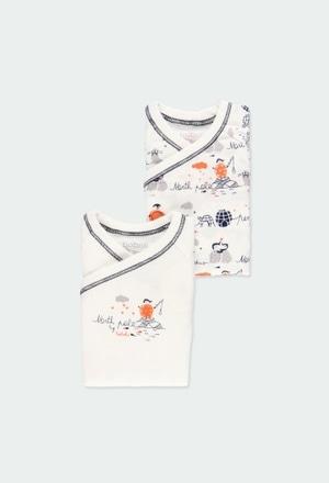 """Pack 2 bodys """"pinguin"""" für baby_1"""