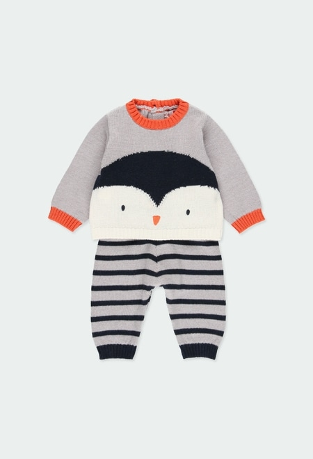 """Pack knitwear """"penguin"""" for baby boy_1"""
