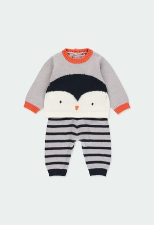 "Pack knitwear ""penguin"" for baby boy_1"