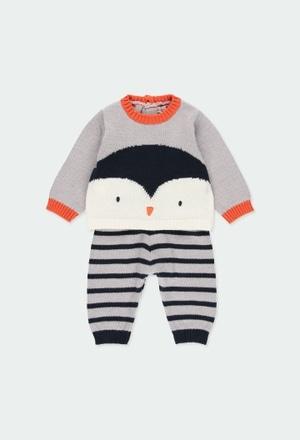 "Pack tricotosa ""pingüino"" de bebé niño_1"