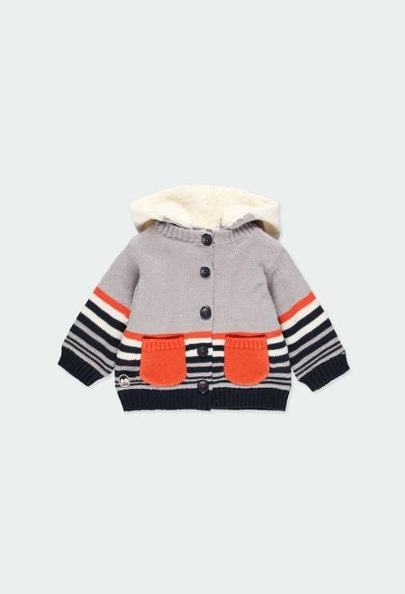 """Casaco tricot """"pinguim"""" do bébé_1"""