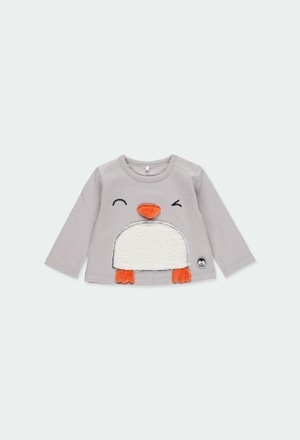 """Camiseta malha """"pinguim"""" para o bebé menino_1"""