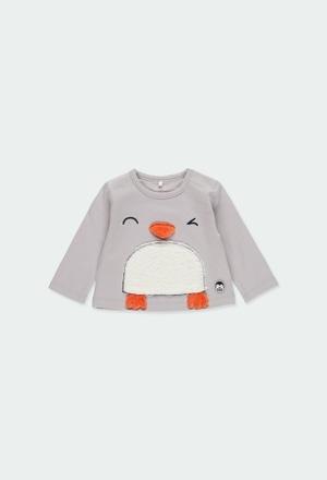 """Camiseta punto """"pingüino"""" de bebé niño_1"""